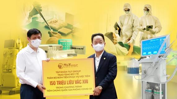 Từ khi dịch Covid-19 bùng phát, T&T Group đã tài trợ, hỗ trợ nhiều trang thiết bị, vật tư y tế cho Bộ Y tế và các địa phương