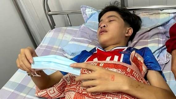 Trần Công Thành đang điều trị tại Viện Huyết học - Truyền máu Trung ương (Hà Nội)