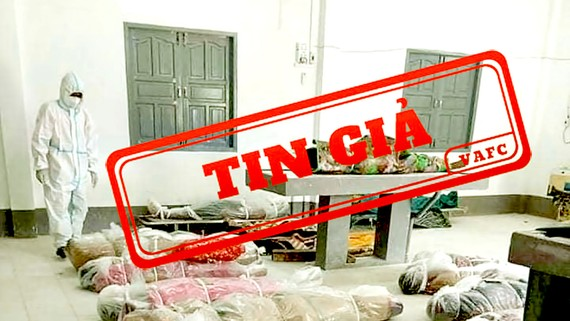 Tin giả về hình ảnh xác chết do Covid-19 tại TPHCM  trên mạng xã hội giữa tháng 7