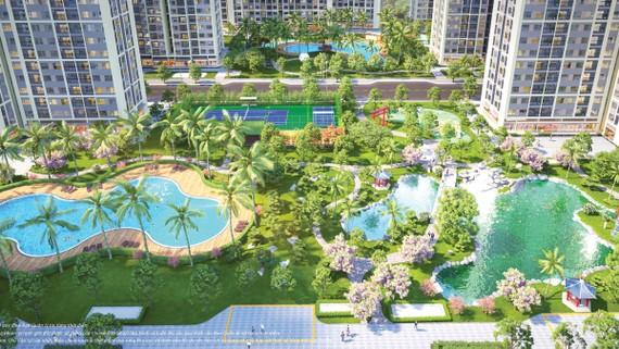 The Origami Park sở hữu những tầm nhìn kép với tiện ích nối dài tiện ích, miền xanh trải dài miền xanh: Chuỗi công viên resort nối liền vườn Nhật Bản; mảng xanh rộng lớn nội khu The Origami Park (S6) nối dài với The Origami Sun (S7); ngoại khu là Công viê