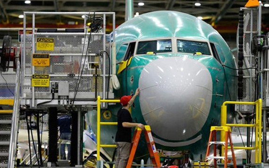 Bên trong nhà máy của Boeing ở Renton, Washington, Hoa Kỳ.
