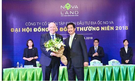 Đại hội Đồng cổ đông Novaland 2018 chào đón tân Thành viên độc lập HĐQT ông David Proctor, góp phần nâng cao tính khách quan, minh bạch, hiệu quả và chất lượng các quyết định của HĐQT trong hoạt động quản trị và kinh doanh.