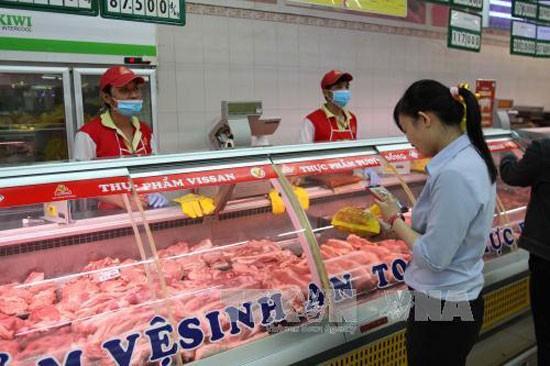 Khu vực bán thịt heo tại Co.opmart