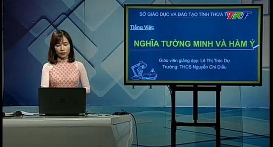 Giờ học Tiếng Việt trên Đài TRT dành cho học sinh lớp 5.