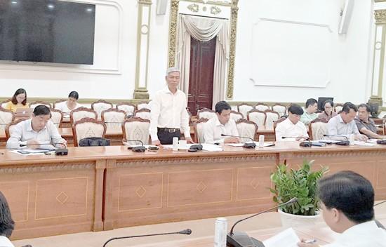 Phó chủ tịch UBND TP Võ Văn Hoan phát biểu tại buổi giám sát.