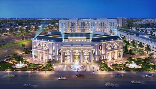 Phối cảnh trung tâm thương mại – hội nghị Century Palace 1,2 ha - điểm đến mua sắm và vui chơi giải trí sầm uất tại Century City.