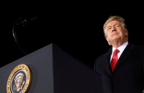 Cựu Tổng thống Trump. Ảnh: AP