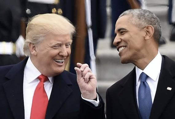 Ông Trump và ông Obama.