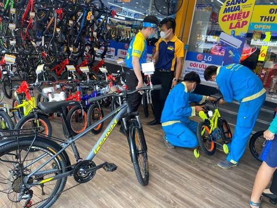 Xe đạp đang là bước thử nghiệm tiếp theo của Thế giới Di động trên hành trinh kinh doanh. Ảnh: MWG