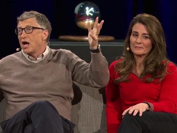 Gates và vợ trước khi ly hôn.