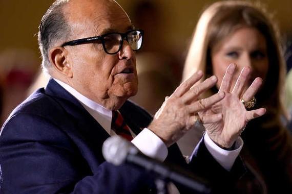 Luật sư Rudy Giulianiđược cho là bị các quan chức Ukraina lợi dụng để lan truyền các thông tin sai lệch về cuộc bầu cử năm 2020. Ảnh: AP