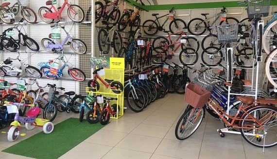 Một góc trong cửa hàng bán xe đạp của Aeon. Ảnh: Aeon Việt Nam.