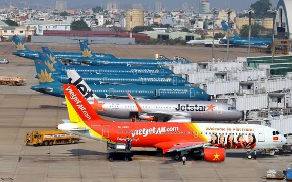 Chỗ đậu máy bay trở nên nan giải khi số lượng máy bay phải tạm dừng khai thác do dịch bệnh tăng nhanh. Ảnh: VNN