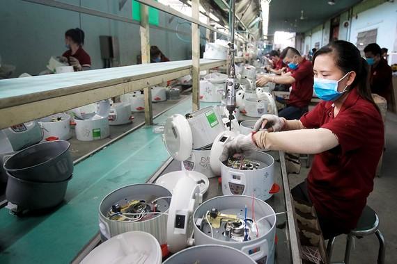Nhiều doanh nghiệp vẫn đầu tư, mở rộng sản xuất hoặc lên kế hoạch tái khởi động sau dịch. Ảnh: Hoàng Triều.