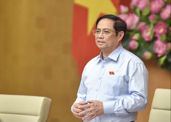 Thủ tướng nhấn mạnh: Qua khó khăn thách thức, tinh thần đại đoàn kết dân tộc càng được khẳng định, củng cố, đây là tài sản vô cùng quý giá của dân tộc ta. Ảnh: VGP