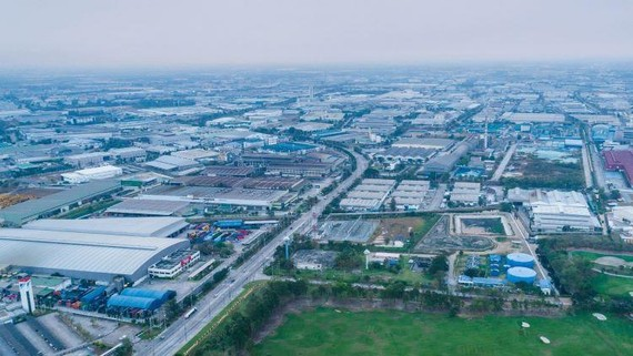 Amata's industrial estate in Chonburi, Thailand. The intensifying trade war has been an accelerator for Chinese companies to relocate their production bases. (Photo courtesy of Amata)