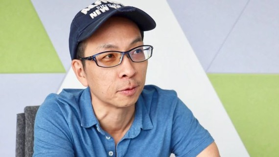Chris Yeo, head of Grab Ventures, says the ride-hailing company looks to give back to the startup community in Southeast Asia. (Photo by Kentaro Iwamoto)