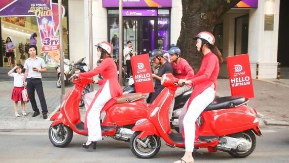 Indonesian ride-hailing operator Go-Jek entered the Vietnamese market in 2018. (Photo by Akira Kodaka)