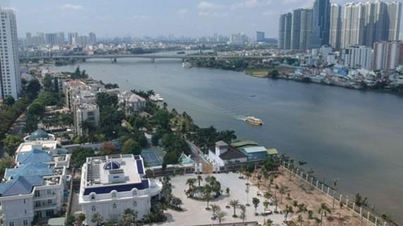 A corner of the Saigon River corridor.