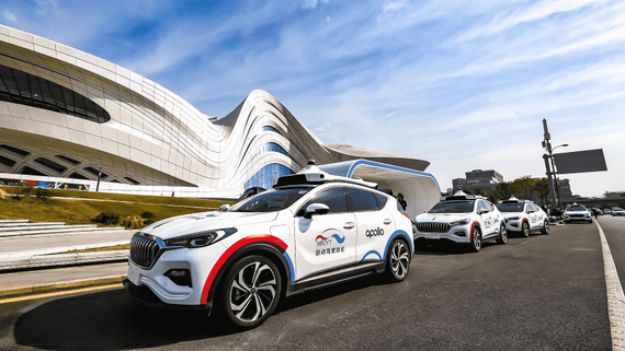Baidu-backed Apollo came first in California's 2019 ranking of self-driving technologies as measured by disengagements per mile. (Photo courtesy of Baidu)