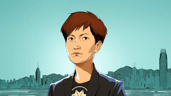Denise Ho Wan-see, the Cantonese singer-turned-activist, is among the pioneering female leaders featured by the Nikkei Asian Review. (Illustration by Chuan Ming Ong)