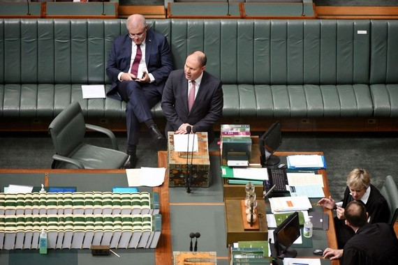 Josh Frydenberg addresses lawmakers at Parliament House in Canberra on March 23.Photographer: Mark Graham/Bloomberg