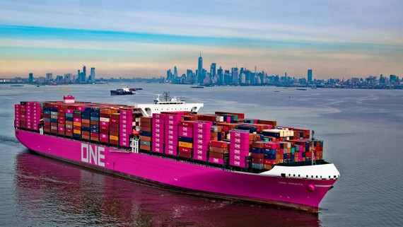 Ocean Network Express, a joint venture of Japan's three largest maritime shippers, is the world's sixth largest container carrier. (Photo courtesy of ONE)