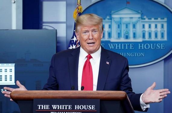 Tổng thống Mỹ Donald Trump tại Nhà Trắng hôm 8/4. Ảnh: Reuters.