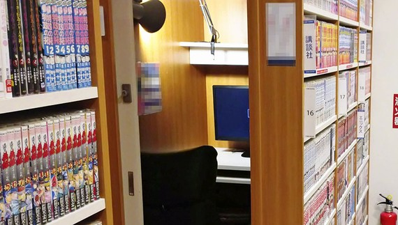 The Japanese internet cafe has evolved into a kind of informal hotel that offers free manga, Wi-Fi and DVDs. Some people even call these places home.   © Kyodo