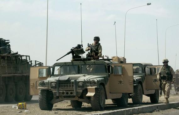 Binh sĩ Mỹ được triển khai tại khu vực al-Taji, Iraq. Ảnh: AFP/ TTXVN