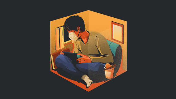 With around a third of the world's population under some form of mandated isolation, Asia's citizens are attempting to adjust to a new reality.    © Illustration by Eric Chow