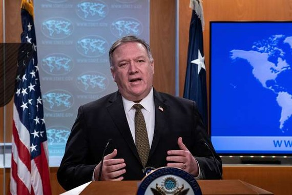 Ngoại trưởng Mỹ Mike Pompeo - Ảnh: REUTERS