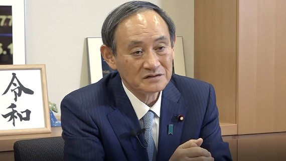 Ông Suga là ứng cử viên hàng đầu để kế nhiệm Thủ tướng Shinzo Abe. (Ảnh của Kaori Yuzawa)
