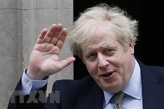 Thủ tướng Anh Boris Johnson tại Phố Downing ngày 18/3. (Ảnh: AFP/TTXVN)
