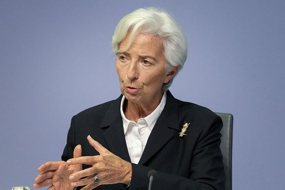 Christine Lagarde, president of the European Central Bank, said the eurozone is experiencing an unprecedented contraction. PHOTO: DANIEL ROLAND/AGENCE FRANCE-PRESSE/GETTY IMAGES