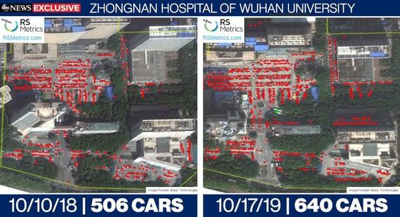 Bệnh viện Trung Nam của Đại học Vũ Hán, cung cấp qua ABC News