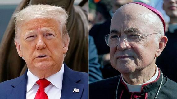 """Đức Tổng Giám mục Carlo Maria Vigano của Rome, cựu Sứ thần Tòa thánh tại Hoa Kỳ, đã ủng hộ Tổng thống Trump trong cuộc chiến """"vĩnh cửu"""" giữa thiện và ác trong một bức thư ngỏ, Chủ nhật, ngày 7 tháng 6 năm 2020. (AP / Getty)"""