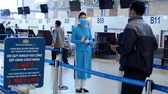 Vietnam is anxious to resume international flights, especially those between important trade and tourist partners, in hopes of restarting its stalled economy.   © AP