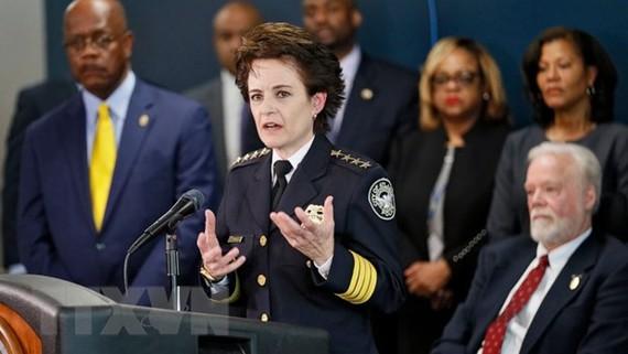 Bà Erika Shields, cảnh sát trưởng thành phố Atlanta. (Nguồn: AP)