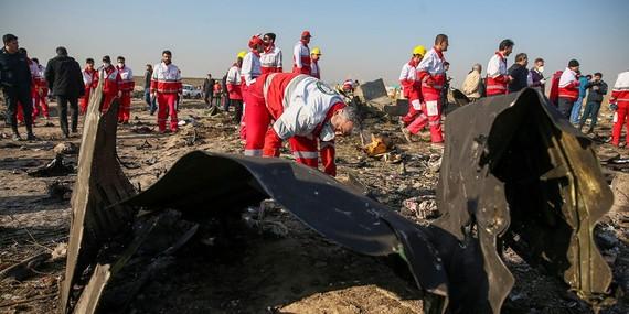 Hiện trường chiếc máy bay của Ukraine bị quân đội Iran bắn rơi ở Tehran