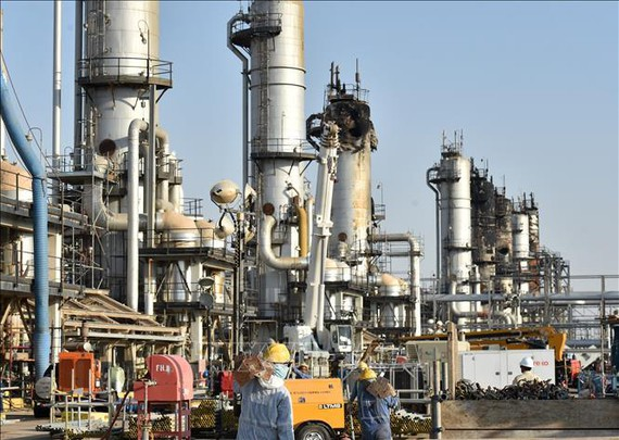 Nhà máy lọc dầu của Tập đoàn Dầu mỏ quốc gia Saudi Aramco, Saudi Arabia. Ảnh: AFP/TTXVN