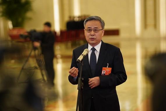 Guo Shuqing, Chủ tịch Ủy ban Quản lý Ngân hàng và Bảo hiểm Trung Quốc  Ảnh: VCG