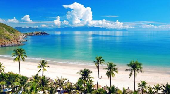 A beach in Nha Trang city.