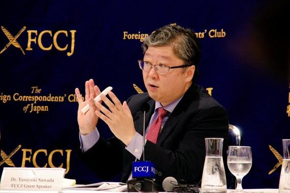 Nhà kinh tế trưởng Yasuyuki Sawada của Ngân hàng Phát triển Châu Á.  Ảnh: The Foreign Correspondents' Club of Japan