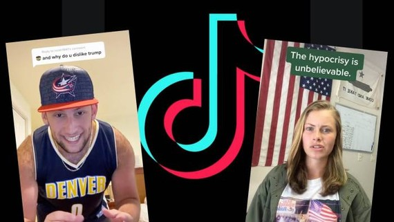 TikTok users have been getting huge hits with political content, from an anti-Trump song by user @nautical80 to a defence of Trumpism by user @thesavvytruth