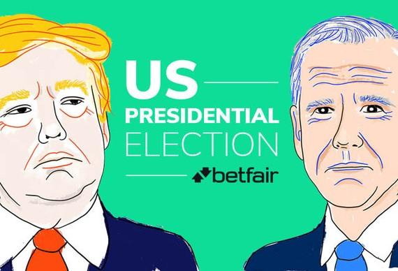 Betfair hiện là sàn giao dịch của Anh tổ chức cá cược kết quả bầu cử tổng thống Mỹ vào ngày 3/11 sắp tới. Nguồn ảnh: oddschecker.com