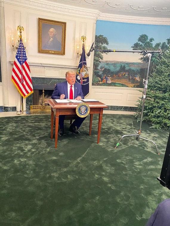TT Trump trong cuộc họp báo hôm thứ Năm 26/11.