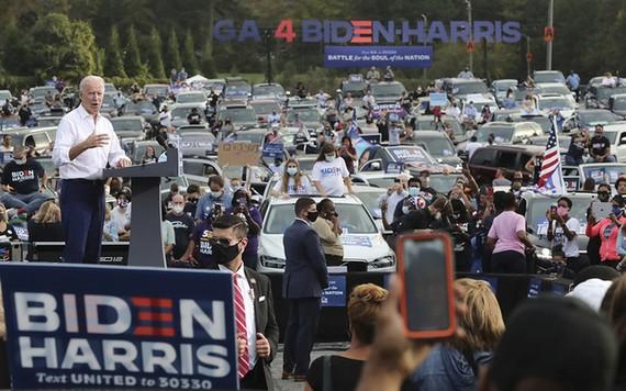 Ông Biden phát biểu trong cuộc vận động ở TP Atlanta, bang Georgia hôm 15-12. Ảnh: AP