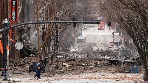 Hiện trường vụ nổ tại thành phố Nashville, Mỹ. (Nguồn: NY Times)