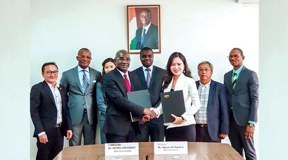 Representatives of T&T Group and the Ivory Coast Cashew Exporters Union signed a contract to purchase 150,000 tons of raw cashew nuts.